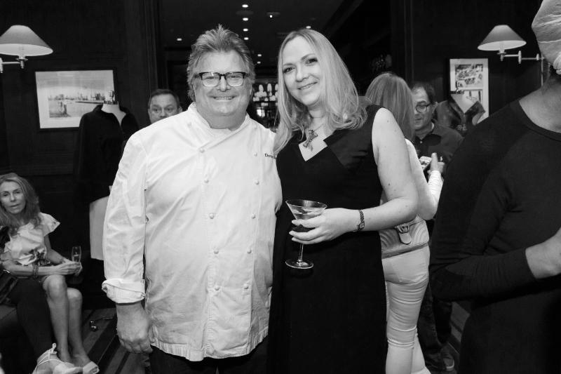 Andrea and David Burke at David Burke's Tavern62 for the Fall/Winter 2018 launch